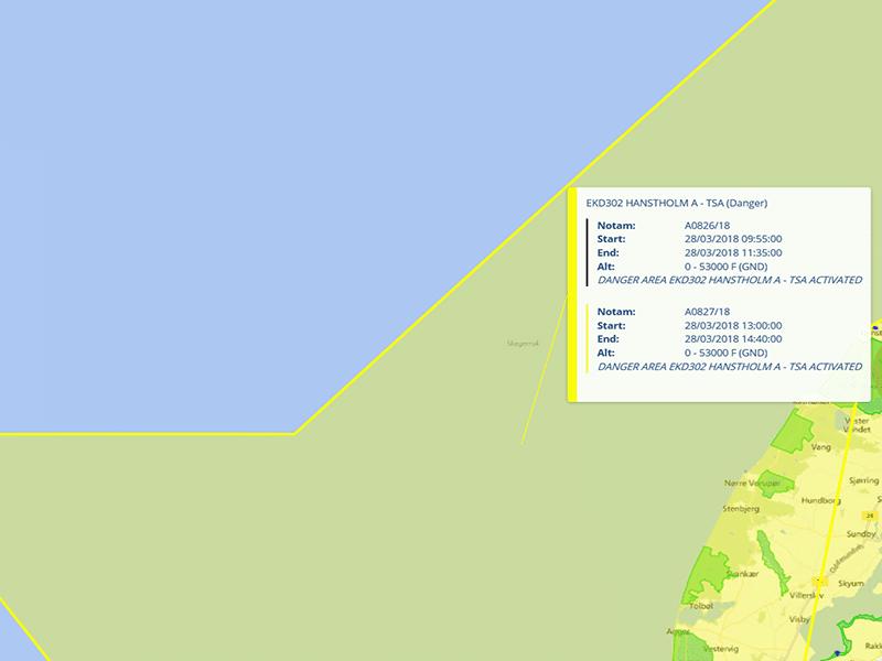militærrestriktion bliver aktiv senere i dag droneluftrummet