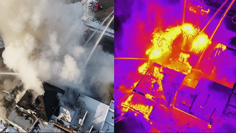 Droner og brand