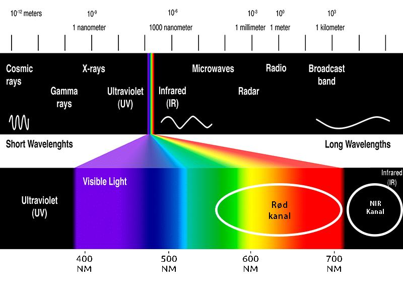 NDVI og NDRE spektrum