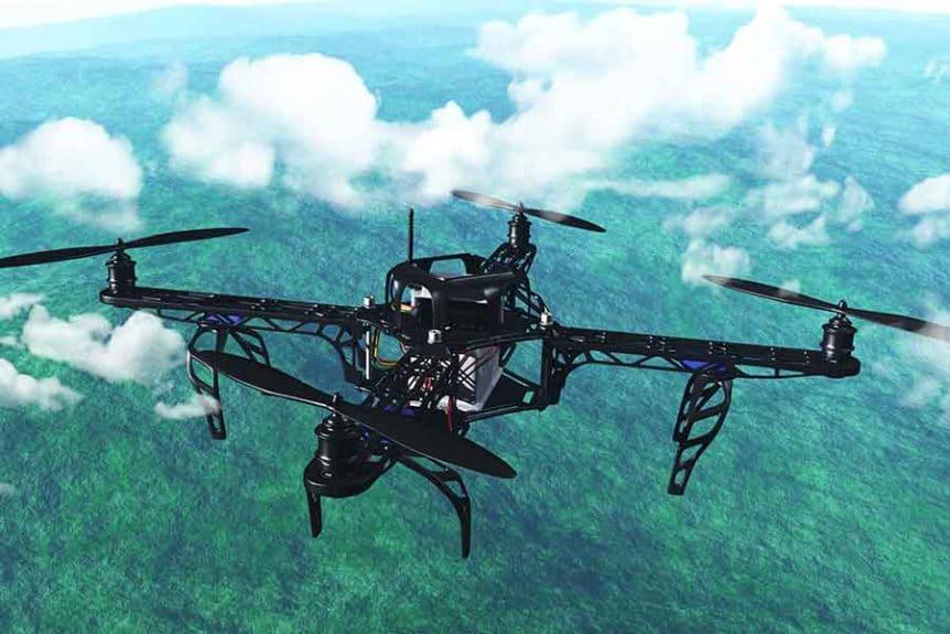 Den maksimale flyvhøjde for droner