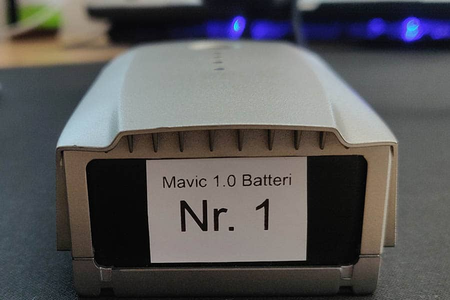 Drone batterier mavic batteri nummerere