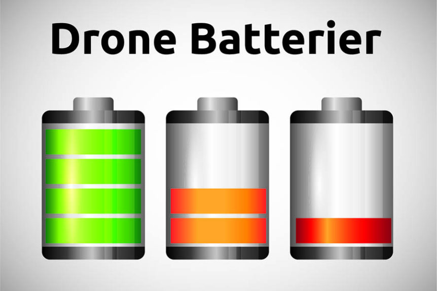 Batterier, drone, dronebatterier