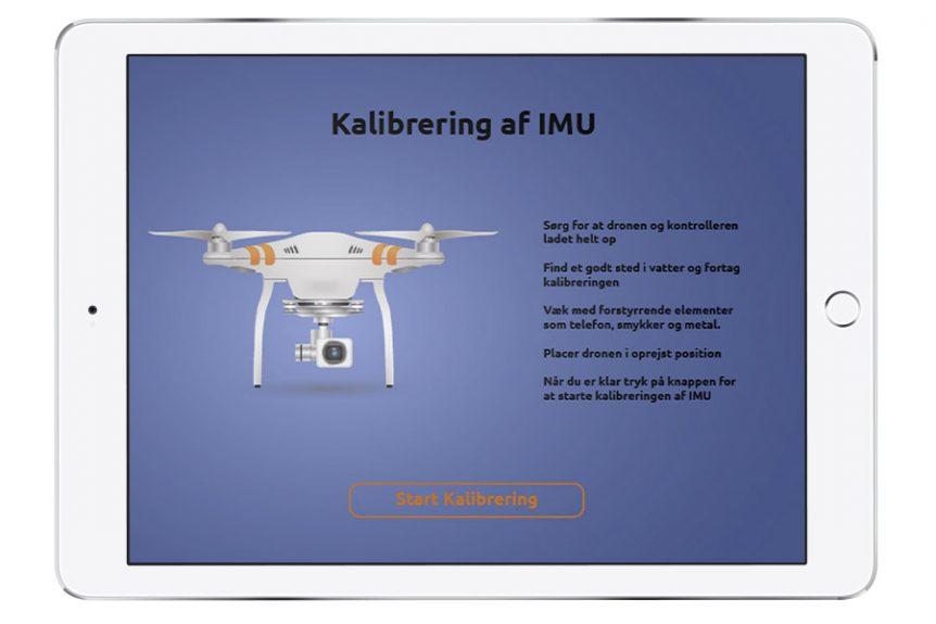 Ipad mockup med IMU kalibrering