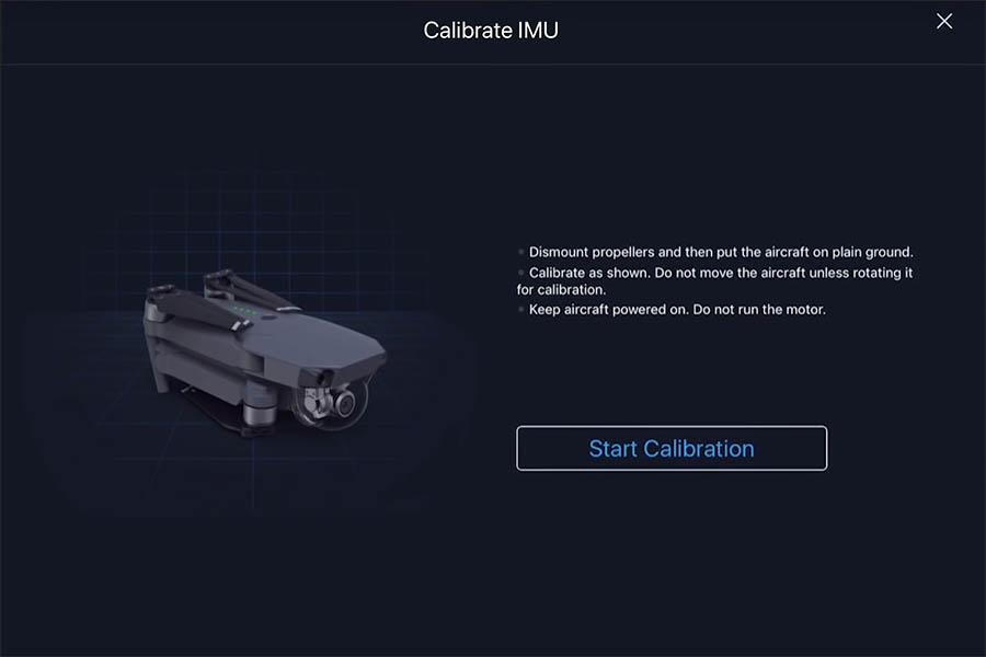 Kalibrering af IMU step 1