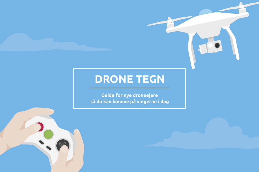 Drone flying in the skies, controller and hands i the corner, dronetegn,  Regler for droner