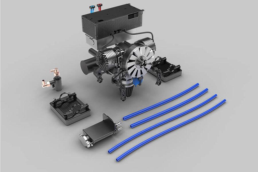 Gasolinepower generator for hybrid drones walkera