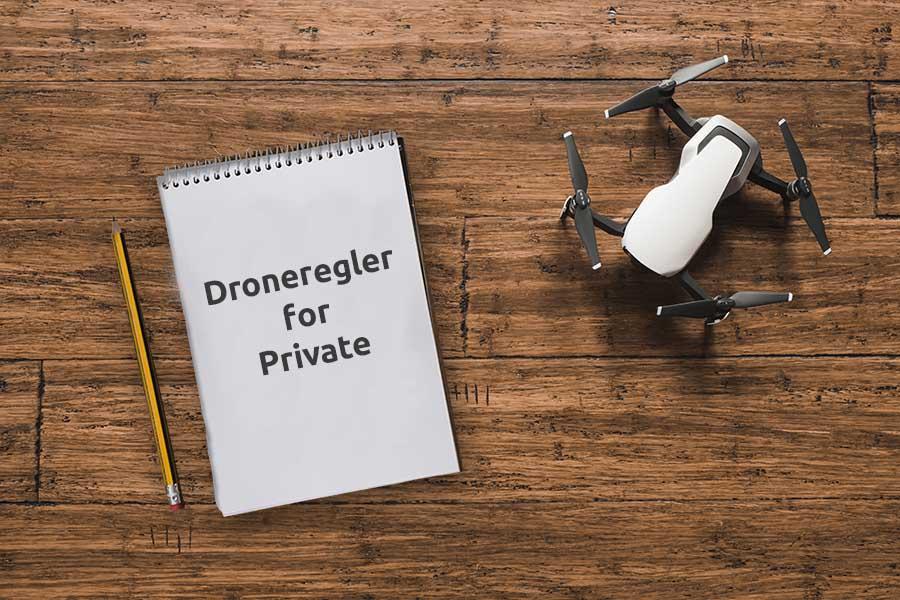 Drone on tabel, Private regler for droner