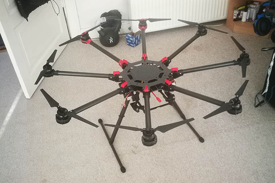 RAW S1000, stor drone, ingen IMU