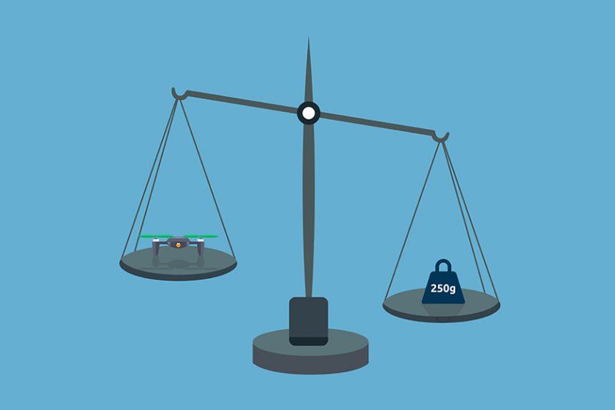 mikrodrone, vægt, regler