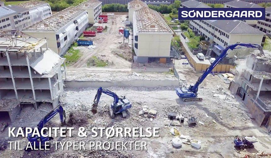 Søndergaard nedrivning, nedrivningsmaskiner,